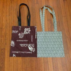 Handmade cotton tote bags